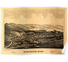 Panoramic Maps Blackinton Mass Poster