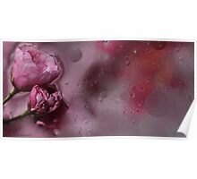 Floral with oil and water II Poster