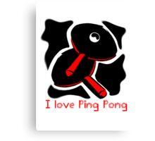 I Love Ping Pong Canvas Print