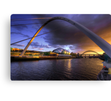 Fine Tyne sunset Canvas Print