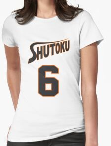 Kuroko No Basket Shutoku 6 Midorima Jersey Anime Cosplay Japan T Shirt Womens Fitted T-Shirt