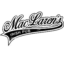 MacLaren's Pub_Black Photographic Print