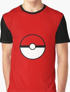 Pokemon - Pokeball RED WHITE Graphic T-Shirt