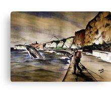 EXTREME FISHING! Canvas Print