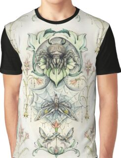 Antique pattern - Spider and Moths Graphic T-Shirt