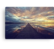 Long Jetty Sunset Canvas Print