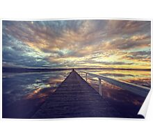 Long Jetty Sunset Poster