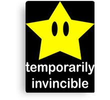 Temporarily Invincible Canvas Print