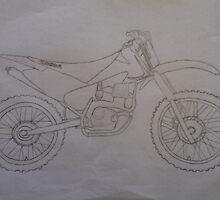 Honda Motorbike Drawing by teentography