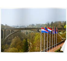 Adolphe Bridge at Luxembourg City Poster