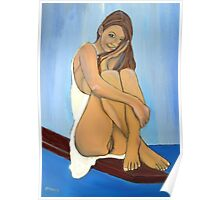 Semi-Naked Sitting Poster