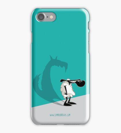 Como Borregos - Lamb & Shadow iPhone Case/Skin