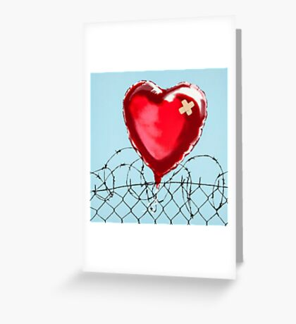 banksy - love hurt Greeting Card