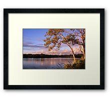 tweed river... Framed Print