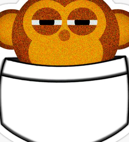 Pocket monkey is highly suspicious Sticker