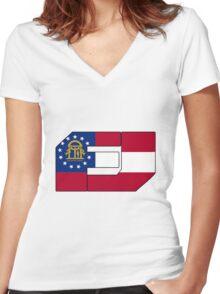 Fj Georgia Women's Fitted V-Neck T-Shirt