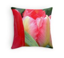 Early Tulips Throw Pillow