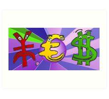 Binary Options News Cartoon YES Currencies Art Print