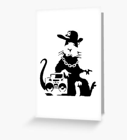 banksy - ghetto rat Greeting Card