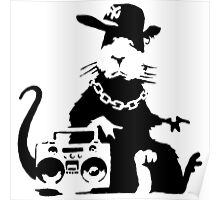 banksy - ghetto rat Poster
