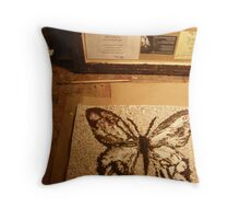 BUTTERFLY ~ 74 BUTTERFLY WORKSHOP Throw Pillow