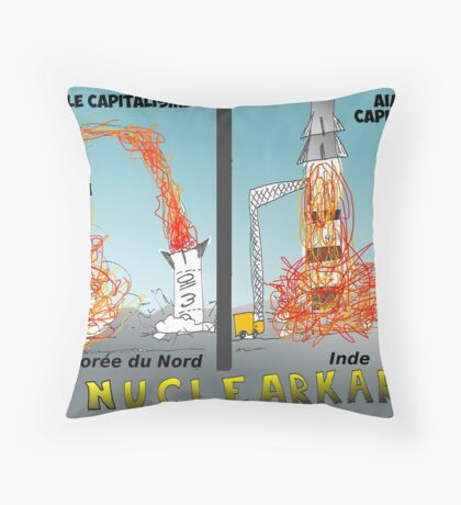 Infos Options Binaires en BD Missiles et Capitalisme Throw Pillow