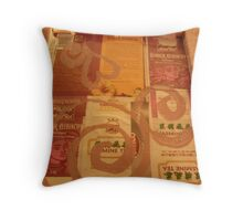 BACK OF CANVAS - BUTTERFLY ~ 3 HOME Throw Pillow