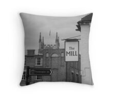 Cyclists Junction, Cambridge Throw Pillow