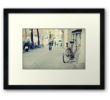 The old bicycle Framed Print
