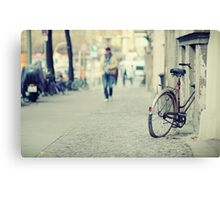 The old bicycle Canvas Print