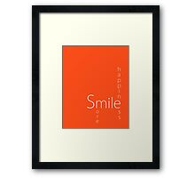 Happiness - Smile More Framed Print