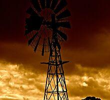 Windmill on Dusk by Matt Hill