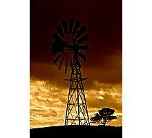 Windmill on Dusk Photographic Print