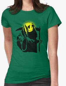 banksy - grin reaper 2 Womens Fitted T-Shirt