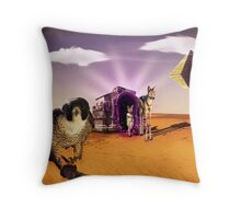 Egyptian Gate Throw Pillow