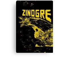 Monster Hunter- Zinogre Roar Design Yellow Canvas Print
