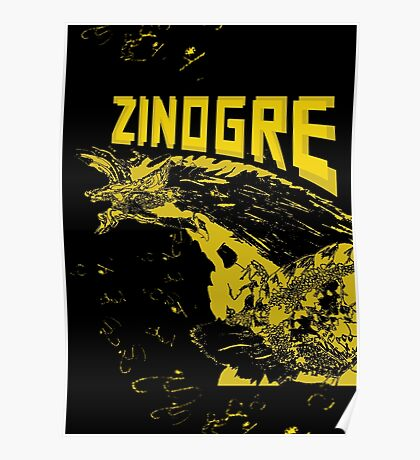 Monster Hunter- Zinogre Roar Design Yellow Poster