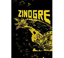 Monster Hunter- Zinogre Roar Design Yellow Photographic Print
