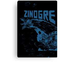 Monster Hunter- Zinogre Roar Design Blue Canvas Print