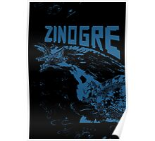 Monster Hunter- Zinogre Roar Design Blue Poster