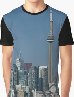 Up Close and Personal - CN Tower, Toronto Harbor and the City Skyline From a Boat Graphic T-Shirt