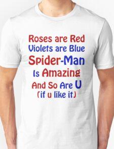 The Amazing Spider-Man Sticker Unisex T-Shirt