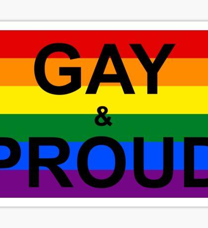 GAY & PROUD Sticker