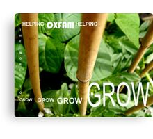OXFAM GROW comp' with example logo, link to final piece & no logo submitted to comp in notes ! please see both*as plain submit Canvas Print
