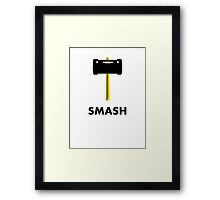 Super Smash Hammer Framed Print