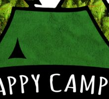 Camping makes me happy. Sticker