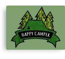 Camping makes me happy. Canvas Print