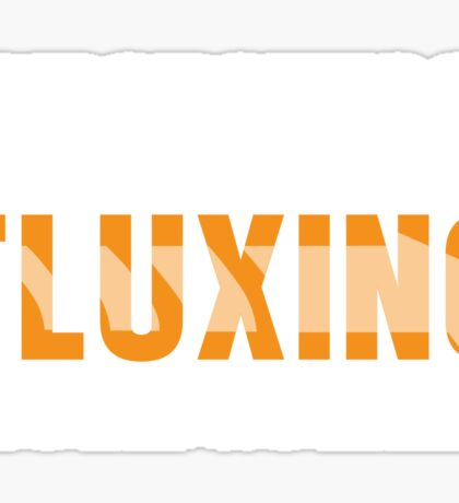 Back To The Future - Fluxing - White Clean Sticker