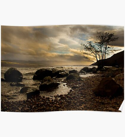 The Shore of Loch Ness Poster