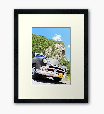 Oldtimer Cuba Framed Print
